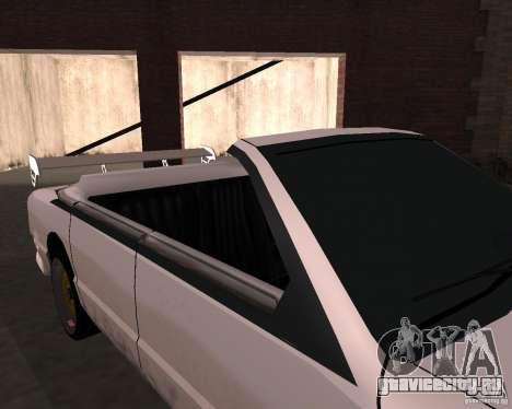 Такси Кабриолет для GTA San Andreas вид изнутри