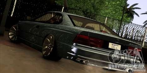 BMW 850 CSI для GTA San Andreas вид справа