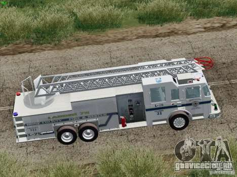 Pierce Puc Aerials. Bone County Fire & Ladder 79 для GTA San Andreas двигатель