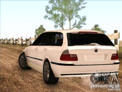 BMW M3 E46 Touring для GTA San Andreas вид сзади слева