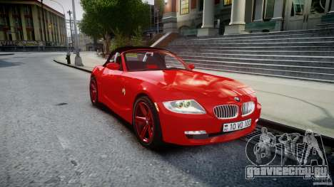 BMW Z4 Roadster 2007 i3.0 Final для GTA 4 вид изнутри
