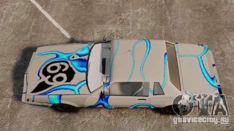 Ржавый Sabre в раскраске 69 для GTA 4 вид сзади