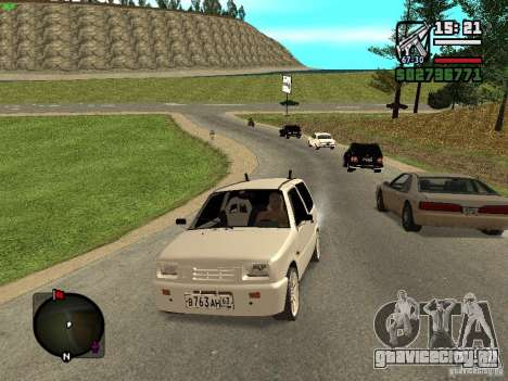 ВАЗ 11113 ОКА для GTA San Andreas вид сзади слева