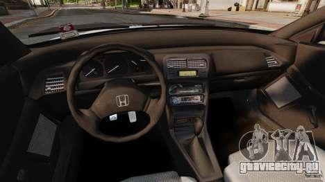 Honda CRX 1991 для GTA 4 вид сзади