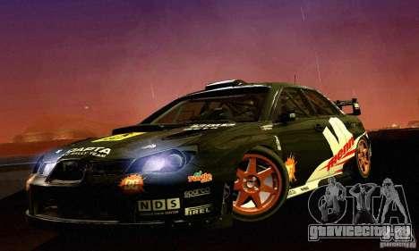 Subaru Impreza WRC 2007 для GTA San Andreas вид слева