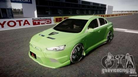 Mitsubishi Lancer Evolution X Tuning для GTA 4 вид сбоку