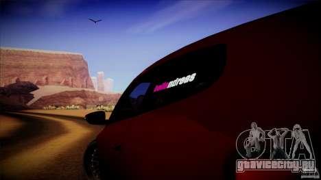 Volkswagen Sirocco для GTA San Andreas вид сзади