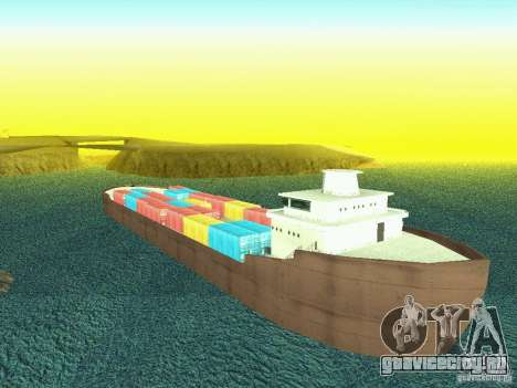 Drivable Cargoship для GTA San Andreas четвёртый скриншот