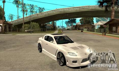 Mazda RX-8 v2 для GTA San Andreas вид сзади