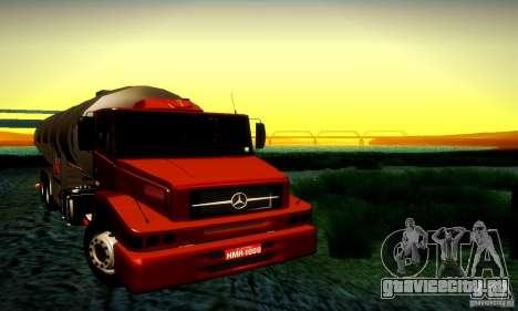 Mercedes-Benz L1620 Tanque для GTA San Andreas вид сзади