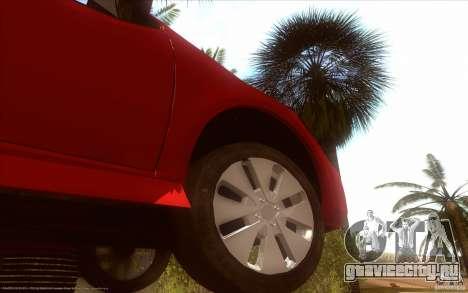 Kia Rio для GTA San Andreas вид сзади