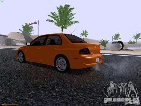 Mitsubishi Lancer Evolution VIII для GTA San Andreas вид сзади слева