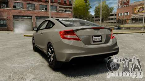 Honda Civic Si Coupe 2012 для GTA 4