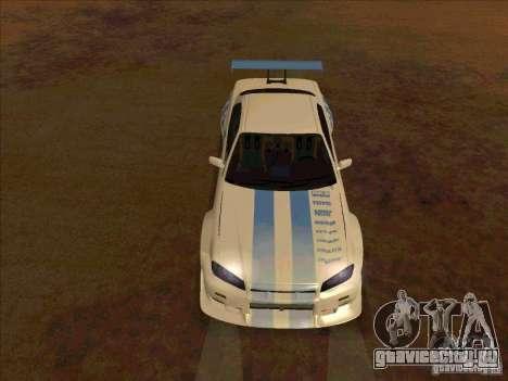 Nissan Skyline GT-R R34 2 Fast 2 Furious для GTA San Andreas вид сзади