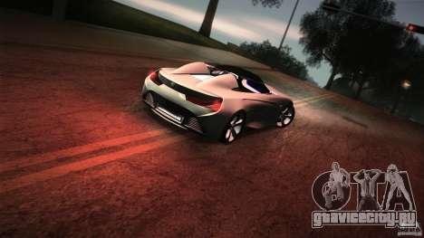 BMW Vision Connected Drive Concept для GTA San Andreas вид снизу