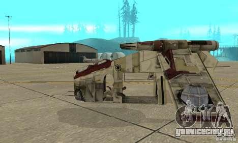 Republic Gunship из Star Wars для GTA San Andreas вид слева