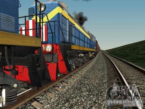 ТЭМ2-5036 для GTA San Andreas вид сзади