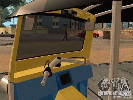 Tuk Tuk Thailand для GTA San Andreas вид сзади