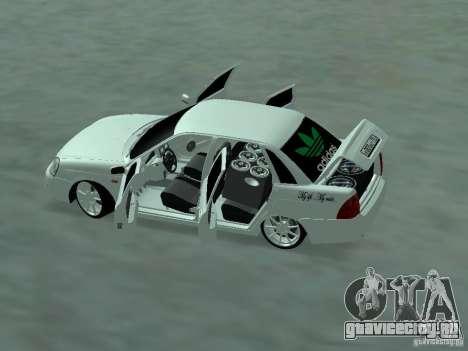 Lada Priora Adidas для GTA San Andreas вид сзади слева