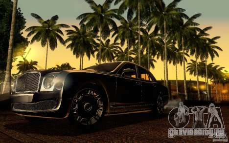 Bentley Mulsanne 2010 v1.0 для GTA San Andreas вид снизу