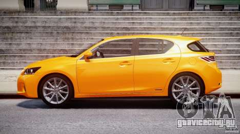 Lexus CT200h 2011 для GTA 4 вид слева