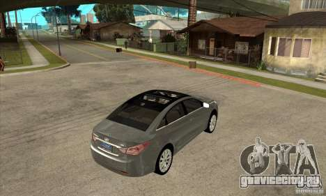 Hyundai Sonata 2011 для GTA San Andreas вид справа