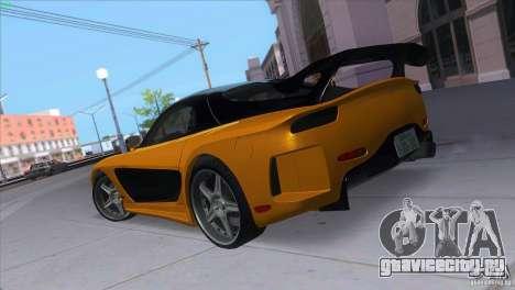 Mazda RX7 Veilside для GTA San Andreas вид сзади слева
