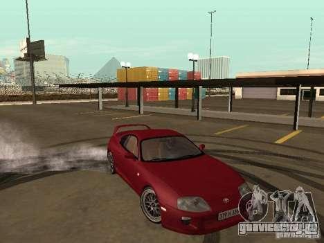 Toyota Supra для GTA San Andreas вид сверху