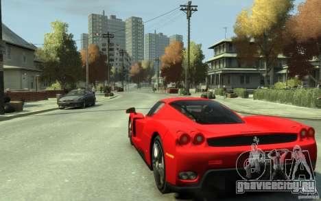 Ferrari Enzo [EPM] v1 для GTA 4 вид сзади слева