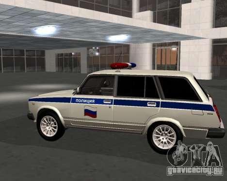 ВАЗ 21047 Полиция для GTA San Andreas вид слева