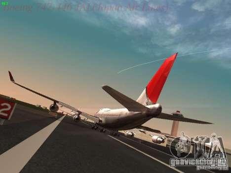 Boeing 747-446 Japan-Airlines для GTA San Andreas вид сзади слева
