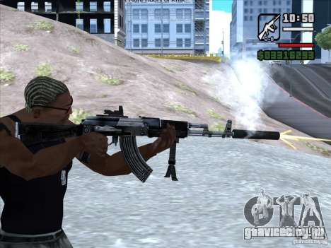 AK-103 из WARFACE для GTA San Andreas четвёртый скриншот