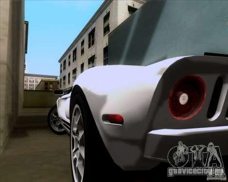 Ford GT для GTA San Andreas вид сверху
