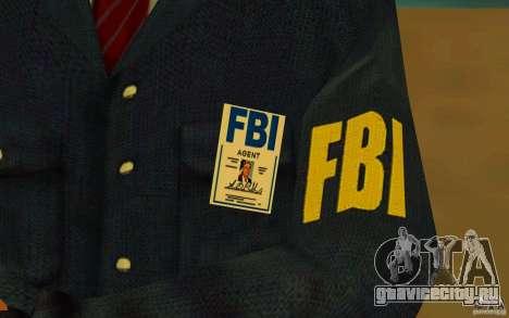 HQ skin FBI для GTA San Andreas пятый скриншот