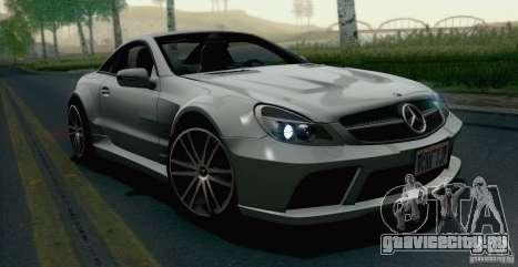 Mercedes-Benz SL65 AMG Black Series для GTA San Andreas вид сзади слева