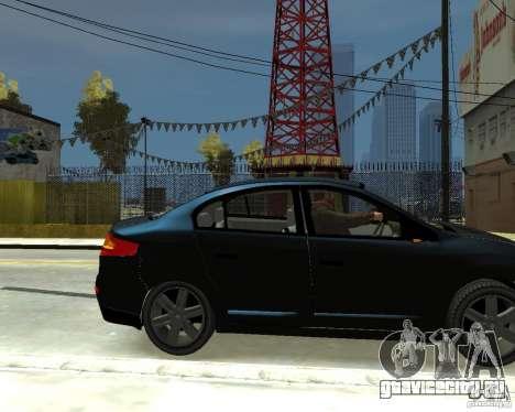 Renault Fluence для GTA 4 вид справа