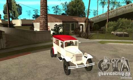 ГАЗ АА Скорая помощь для GTA San Andreas вид сзади