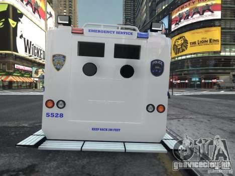 Lenco Bearcat NYPD ESU V.2 для GTA 4 вид сзади слева