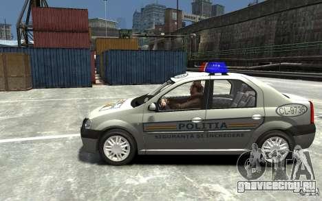 Dacia Logan Prestige Politie для GTA 4 вид слева