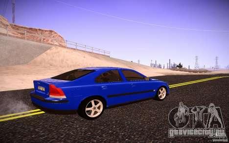 Volvo S 60R для GTA San Andreas вид сзади слева