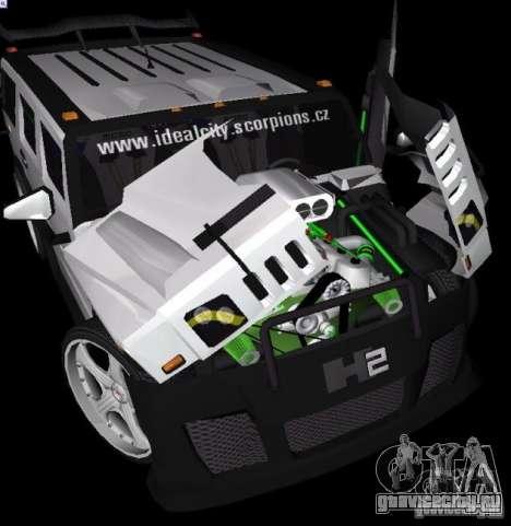 AMG Hummer H2 Hard Tuning v2 для GTA Vice City вид сзади слева