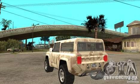 Ford Bronco Concept для GTA San Andreas вид сзади слева