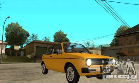 Volkswagen Rabbit Convertible для GTA San Andreas вид сзади