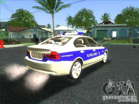 BMW 330i YPX для GTA San Andreas вид сзади