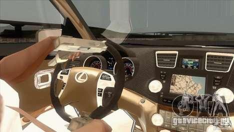 Lexus RX350 для GTA San Andreas вид изнутри