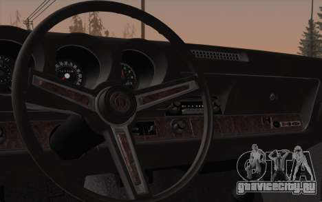 Oldsmobile Hurst/Olds 455 Holiday Coupe 1969 для GTA San Andreas вид изнутри