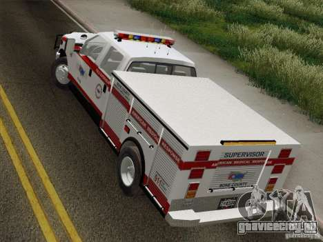 Ford F-350 AMR Supervisor для GTA San Andreas вид сзади
