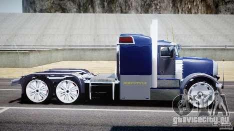 Peterbilt Truck Custom для GTA 4 вид слева