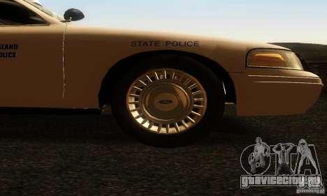 Ford Crown Victoria Rhode Island Police для GTA San Andreas вид справа