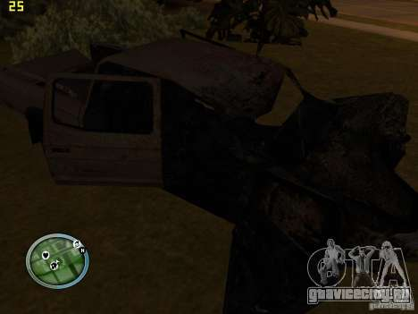 Разбитые тачки на Грув Стрит для GTA San Andreas четвёртый скриншот